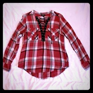 Express flannel blouse